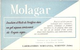 Buvard Pharmacie -  MOLAGAR - Huile Parafine Laboratoir Substania (petit Format) - Chemist's