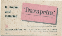 Buvard Pharmacie - DARAPRIM  - Anti Malarien - Malaria -laboratoir BURROUGHT WELCOME (petit Format) - Chemist's