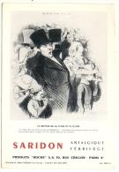 """Buvard Pharmacie - SARIDON """"Le Retour De La Foire De St Cloud"""" Lab. Roche - Chemist's"""