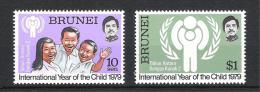 Brunei 1979 Mi# 227-228 ** MNH Jahr Des Kindes - Brunei (1984-...)