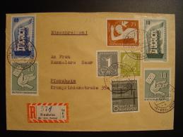 ALLEMAGNE BUND 1956 17b SINZHEIM BÜHL BADEN Nach PFORZHEIM EINSCHREIBEN - Covers & Documents