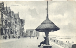 DUINBERGEN  LA DIGUE   1908  MOOIE KAART MET SCHUILHUISJE   BELLE CARTE - ABRI SUR LA DIGUE - Heist