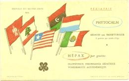 Buvard Pharmacie -  Drapeaux Des Nations Unies - Phytocalm Hepax - Chemist's
