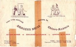 Buvard Pharmacie - Dragées Briss TRES MAUVAIS ETAT - Chemist's