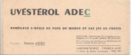 Buvard Pharmacie - Laboratoire Clinex Uve - Paris - UVESTEROL ADEC - Chemist's