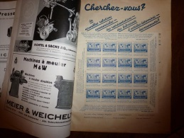 Rare: 16 Timbres Allemands 1937 (comme Neufs) ECHO UNIVERSAL-AUSGABE  Dans Revue Allemande DAS ECHO 1937 - Blocks & Kleinbögen