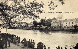 CPA   77   LAGNY-THORIGNY----QUAI DE MARNE---ANIMEE---1908 - Lagny Sur Marne