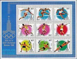 BURUNDI 1980 MOSCOW OLYMPICS SC#C282 S/S MNH CV$35.00 FOOTBALL (6D58) - Summer 1980: Moscow