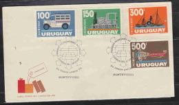 URUGUAY FDC ENCOMIENDAS SPECIAL POSTAGE AAD0815 - Uruguay