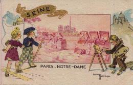 SEINE Paris-Notre-Dame / Illustrateur Gaston Maréchaux - Otros Ilustradores