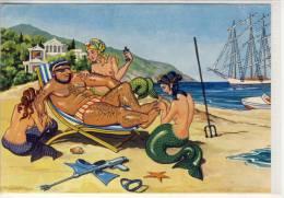POSEIDON Und Die Wassernixen  Mermaid Nixe Sirène Sirena Meerjungfrau - Humour