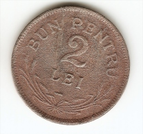 2 LEI ,2 COINS - 1924 - ROMANIA--SERRATED  EDGE - Romania