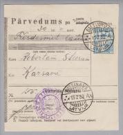 Lettland 1932-02-19 Baltinava + Inversstempel Auf Postquittung - Lettonie