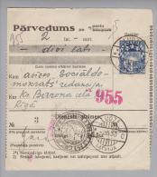 Lettland 1930-05-02 Ludze + Inversstempel Auf Postquittung - Lettonie