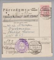 Lettland 1934-12-08 Jekabpils + Inversstempel Auf Postquittung - Lettonie