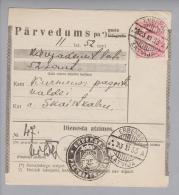 Lettland 1933-11-23 Erberge + Inversstempel Auf Postquittung - Lettonie