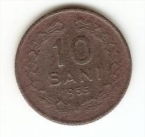 10 BANI - 1955 -REPUBLICA POPULARA ROMANA--SERRATED  EDGE - Romania
