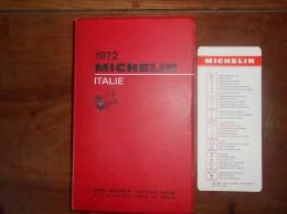 GUIDE MICHELIN 1972  ITALIE - Michelin (guides)