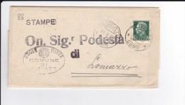 Storia Postale - Lettera - Comune Di Turate A Podestà Di Lomazzo - Viaggiata 1937 - 1900-44 Vittorio Emanuele III