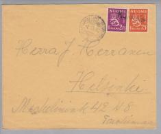 Heimat Finnland Bahnl.Rvaunu 26 1942-11-08 Kukkola Brief Nach Helsinki - Finlande