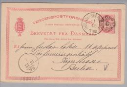 Heimat Dänemark Pederstrup 1885-12-11 Auf 10 Ore GS Nach Berlin Odense-Svendborg L#7106 - Lettere