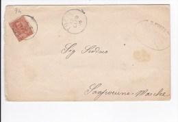 Storia Postale - Lettera - Sindaco Di Sanseverino Marche - Viaggiata 1905 - 1900-44 Vittorio Emanuele III
