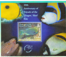 British Indian Ocean Territority BIOT 2002 Reef Fish S/S MNH - Britisches Territorium Im Indischen Ozean