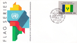 Flag Cover United Nations New York FDC: 1988 St. Vincent  (G41-37) - Covers