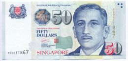 Singapore 50 Dollars 2005 - 2015 AUNC P- 49b ( Music Instruments) - Singapour