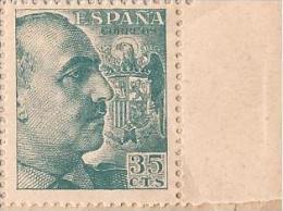 ES1050-B043TV.España Spain.Espagne .General FRANCO Y CID.1048/53. (Ed 1050**) Sin Clarnela LUJO - Varietà E Curiosità