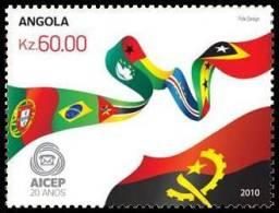 ang10105a Angola 2010 20 Aniversary AICEP 1v Joint Iusses Flag