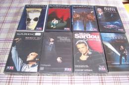 MICHEL SARDOU  °°°°  COLLECTION DE 8 K7 VIDEOS - Cassettes Vidéo VHS