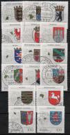 Q644.-.GERMANY / ALEMANIA.-. 1992 - 1994 .-. USED .-. ARMS COATS / ESCUDOS DE ARMAS. COATS OF ARMS OF THE FEDERAL REPUBL - Francobolli