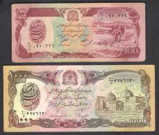 AFGHANISTAN BANKNOTE 100 & 1000 Afghani, As Per Scan - Afghanistán