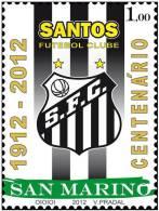 2012 - SAN MARINO - CENTENARIO DEL SANTOS - EMISSIONE COMUNE COL BRASILE. MNH - Emissioni Congiunte
