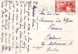 ROMA  /  PALERMO - Card _ Cartolina 25.09.1953 - Italia Al Lavoro Lire 60 Isolato - 6. 1946-.. Repubblica