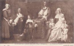 Cp , ARTS , Musée De LILLE , UCHTERVELT (Jacob) 1665-1685(Ecole Hollandaise)  , Le Goûter De Famille - Paintings