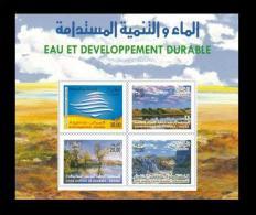 Algérie Algeria Eau Et Developpement Durable Water Agua Wasser Aqua Bloc Block - Protezione Dell'Ambiente & Clima
