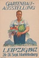 Gemeina. Sonderkarte Mef Minr.2x 913 SST Markkleeberg 20.9.47 Gartenbau-Ausstellung - Gemeinschaftsausgaben