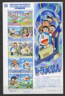 Japan (2013)  - MS -  /  Cartoons - Animation Hero #20 - Butterflies - Papillons - Mariposas - Doraemon - Fumetti