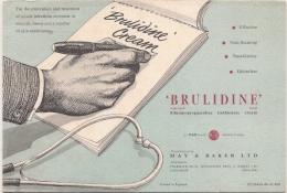 Buvard Pharmacie - BRULIDINE La Boratoire May Et Baker - Chemist's