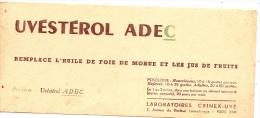 Buvard Pharmacie - Uvestrol ADEC - Chemist's