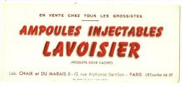 Buvard Pharmacie - Laboratoire Chaix Et Du Marais Ampoules Injectables LAVOISIER - Chemist's