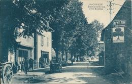 15  SAINT CERNIN - Entrée Du Bourg , Coté Aurillac ( CAFE Des AUTOBUS ,Pompe à Essence ) En 1940 - Other Municipalities