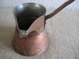 Hand Hammered Copper Coffee Pot, Cezve, Ibrik Decoration Handmade - Cobre