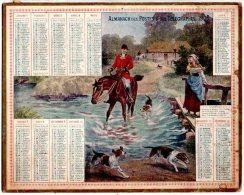 """Splendide Calendrier Almanach Des Postes Et Télégraphes 1905 Oberthür / """"Chasse à Courre"""" - Calendarios"""