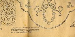 BRODERIE AIGUILLE MODE 1925 /  BAVOIR TROUSSEAU De Maternité BERCEAU MONOGRAMME - Patrons
