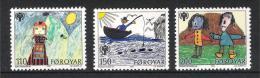 Färöer Inseln 1979 Mi# 45-47 ** MNH Jahr Des Kindes Year Of Child - Färöer Inseln