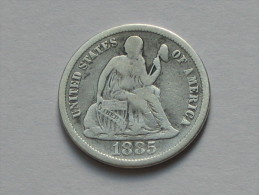 Etats-Unis -USA - One 1 Dime 1885 United States Of America - Federal Issues