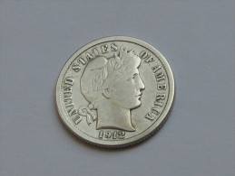 Etats-Unis -USA - One 1 Dime 1912 - Barber Dime -  United States Of America - Federal Issues